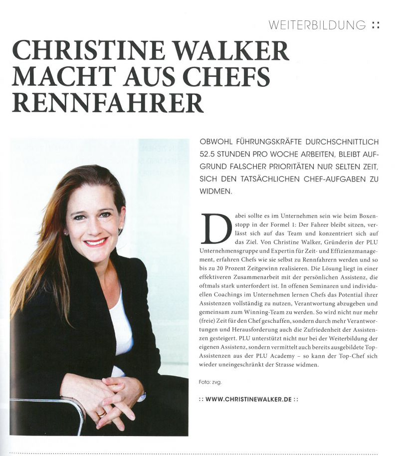 Christine Walker makes race drivers out of managers
